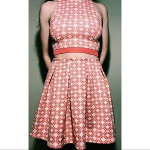 Pink and White Skirt Set